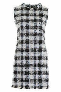Alexander McQueen Check Tweed Mini Dress