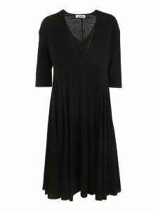 Jil Sander V-neck 3 Quarter Length Sleeve Dress