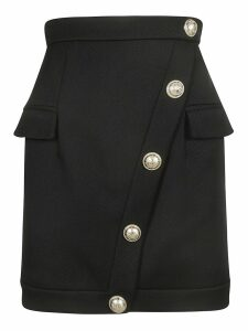 Balmain Button Embellished Skirt