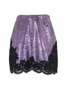 Philosophy di Lorenzo Serafini Minimal Miniskirt With Lilac Sequins