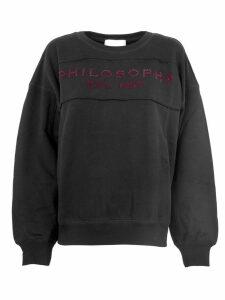 Philosophy di Lorenzo Serafini Black Cotton Sweatshirt