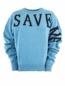 Alberta Ferretti Light Blue Cashmere Sweater