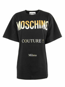 Moschino Black Cotton T-shirt
