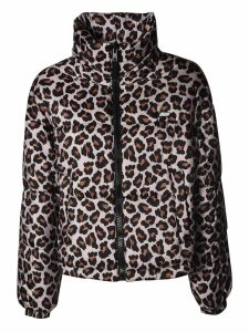 MSGM Leopard Print Zipped Jacket