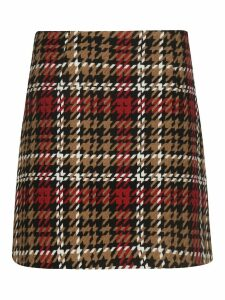 Be Blumarine Tartan Pattern Skirt