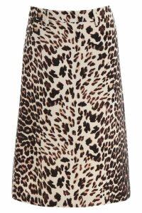 Prada Animalier Midi Skirt