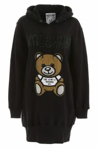 Moschino Hoodie Dress With Teddy Bear Embroidery