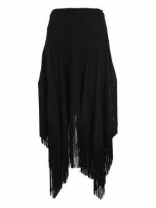 Stella Mccartney Asymmetric Fringed Skirt