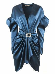 Alexandre Vauthier Cobalt Silk Blend Mini Dress