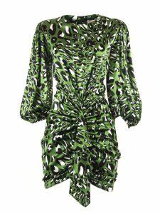 Alexandre Vauthier Green Silk Blend Dress