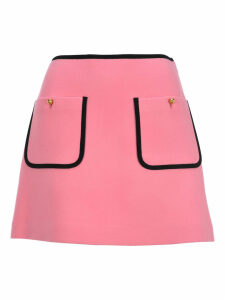 Miu Miu Contrast Piping A-line Skirt