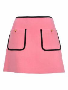 Miu Miu Contrast Piping A-line Skirt