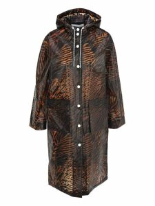Ganni Tiger Print Raincoat