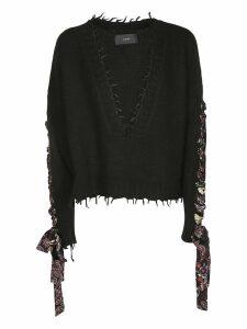 Alanui Bandana Lace-up Sweater