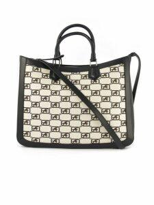 Alberta Ferretti Shoulder Bag With Af Jacquard Logo,