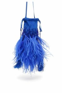 The Attico Feathers And Beads Mini Bag