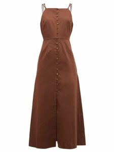 Cult Gaia - Giana Cotton Blend Midi Dress - Womens - Brown