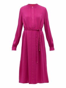 Zeus + Dione - Hera Silk Blend Crepe Midi Dress - Womens - Pink