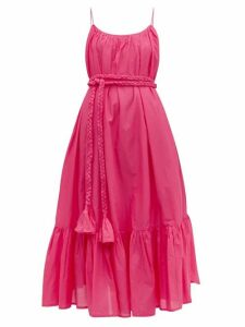 Rhode - Lea Tiered Cotton Voile Dress - Womens - Pink