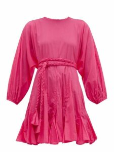 Rhode - Ella Cotton Voile Dress - Womens - Pink