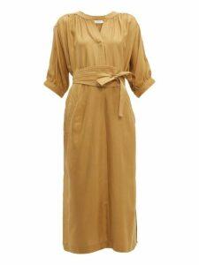 Zimmermann - Espionage Belted Silk Tunic Dress - Womens - Beige