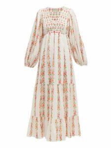 Beulah - Indira Floral Print Cotton Voile Dress - Womens - Multi