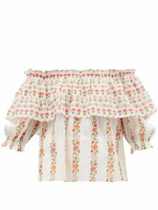 Beulah - Ridhi Floral Print Cotton Top - Womens - Multi