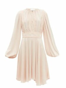 Giambattista Valli - Balloon Sleeve Crepe Dress - Womens - Light Pink