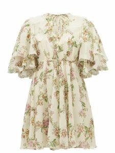 Giambattista Valli - Floral Silk-georgette Dress - Womens - Ivory Multi