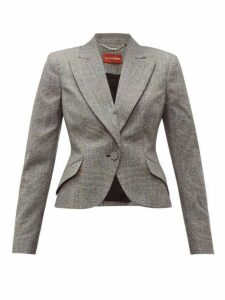 Altuzarra - Kershaw Prince Of Wales Checked Wool Blend Blazer - Womens - Black White