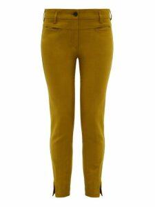 Ann Demeulemeester - Slim Leg Stretch Jersey Trousers - Womens - Green