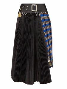 Chopova Lowena - Pleated Recycled Tapestry Skirt - Womens - Black Multi