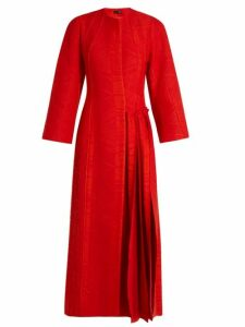 Carl Kapp - Flame Pleated Side Coat - Womens - Red