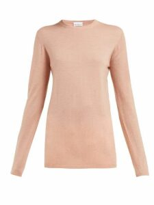 Raey - Long Line Fine Knit Cashmere Sweater - Womens - Pink