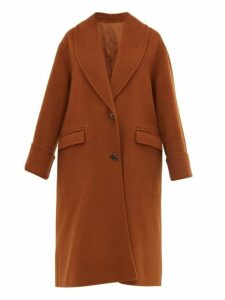 Joseph - Kara Double Faced Wool Blend Coat - Womens - Brown