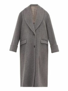 Joseph - Kara Double Faced Wool Blend Coat - Womens - Dark Grey