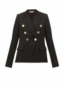 Stella Mccartney - Double Breasted Wool Blazer - Womens - Black