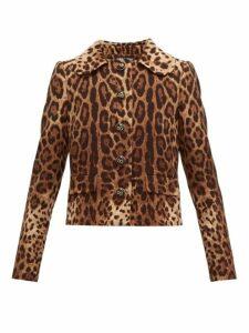 Dolce & Gabbana - Leopard Print Wool Crepe Jacket - Womens - Leopard