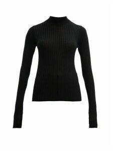 Acne Studios - Kulia Stand Collar Ribbed Wool Sweater - Womens - Black