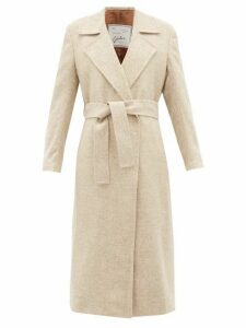 Giuliva Heritage Collection - The Linda Herringbone Wool Twill Coat - Womens - Cream