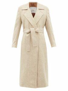 Giuliva Heritage Collection - The Linda Herringbone Wool Twill Coat - Womens - Cream