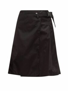 Prada - Pleated Nylon Skirt - Womens - Black
