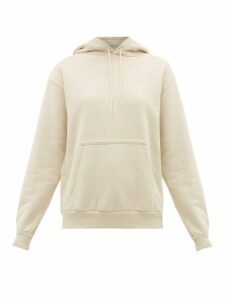 Holiday Boileau - Logo Print Cotton Jersey Hooded Sweatshirt - Womens - Ivory