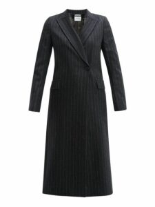 Pallas X Claire Thomson-jonville - Forsythe Single-breasted Pinstripe-wool Coat - Womens - Grey Multi