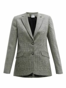 Pallas X Claire Thomson-jonville - Fidji Single Breasted Wool Blazer - Womens - Grey Multi
