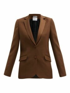 Pallas X Claire Thomson-jonville - Faulkner Single Breasted Wool Blazer - Womens - Brown
