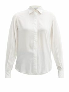 Pallas X Claire Thomson-jonville - Relaxed Fit Stretch Voile Shirt - Womens - White
