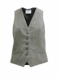 Pallas X Claire Thomson-jonville - Prince Of Wales-check Wool Waistcoat - Womens - Grey Multi