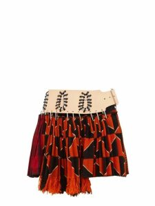 Chopova Lowena - Recycled Tapestry Mini Skirt - Womens - Orange Multi