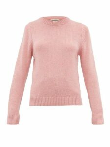 Queene And Belle - Tushingham Crown Embroidered Cashmere Sweater - Womens - Pink